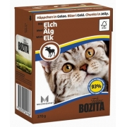 Бозита Консервы для кошек кусочки в желе (мясо лося) 370 г