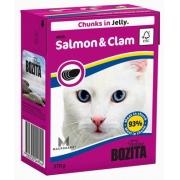 Бозита Консервы для кошек кусочки в желе (лосось мидии) 370 г