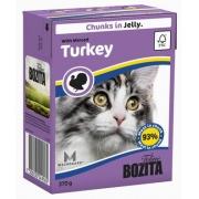 Бозита Консервы для кошек кусочки в желе (индейка) 370 гр.