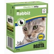 Бозита Консервы для кошек кусочки в желе (кролик) 370 г