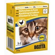 Бозита Консервы для кошек кусочки в соусе (индейка+курица) 370 гр.