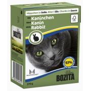 Бозита Консервы для кошек кусочки в соусе (кролик) 370 г