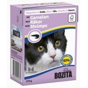 Бозита Консервы для кошек кусочки в соусе (креветки) 370 гр.