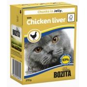 Бозита Консервы для кошек кусочки в желе (куриная печень) 370 гр.
