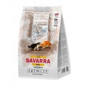 Саварра Лардж Кэт Корм для взрослых кошек крупных пород (индейка-рис) 2 кг