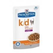 Хиллс PD Диетический корм для кошек k/d Паталогия почек (говядина) ПАУЧ 85 г