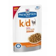 Хиллс PD Диетический корм для кошек k/d Паталогия почек (курица) ПАУЧ 85 г