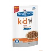 Хиллс PD Диетический корм для кошек k/d Паталогия почек (лосось) ПАУЧ 85 г