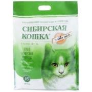 Сибирская кошка Элитный силикагель 16 л  ЭКО (зеленый)