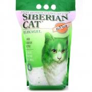 Сибирская кошка Элитный силикагель 4 л  ЭКО (зеленый)