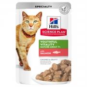 Хиллс Пауч для кошек 7+ лосось 85 г