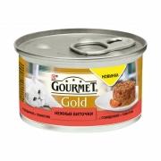 Гурмэ Голд Нежные биточки с говядиной и томатами 85г р