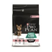 Проплан Сухой корм для щенков Смол и Мини (лосось) 3 кг OptiDerma