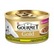 Гурмэ Голд Двойное удовольствие с кроликом и печенью 85 г