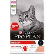 Проплан Сухой корм для кошек взрослых (лосось) Optisenses 10 кг