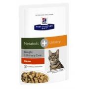 Хиллс PD Диетический корм для кошек  Метаболик+Уринари ПАУЧ 85 г