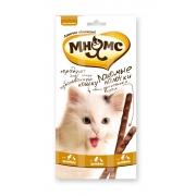 Мнямс Лакомые палочки для кошек цыпленок+утка 3 шт