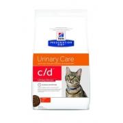 Хиллс PD Диетический корм для кошек c/d Уринари Стресс (курица) при стрессе сухой 400гр